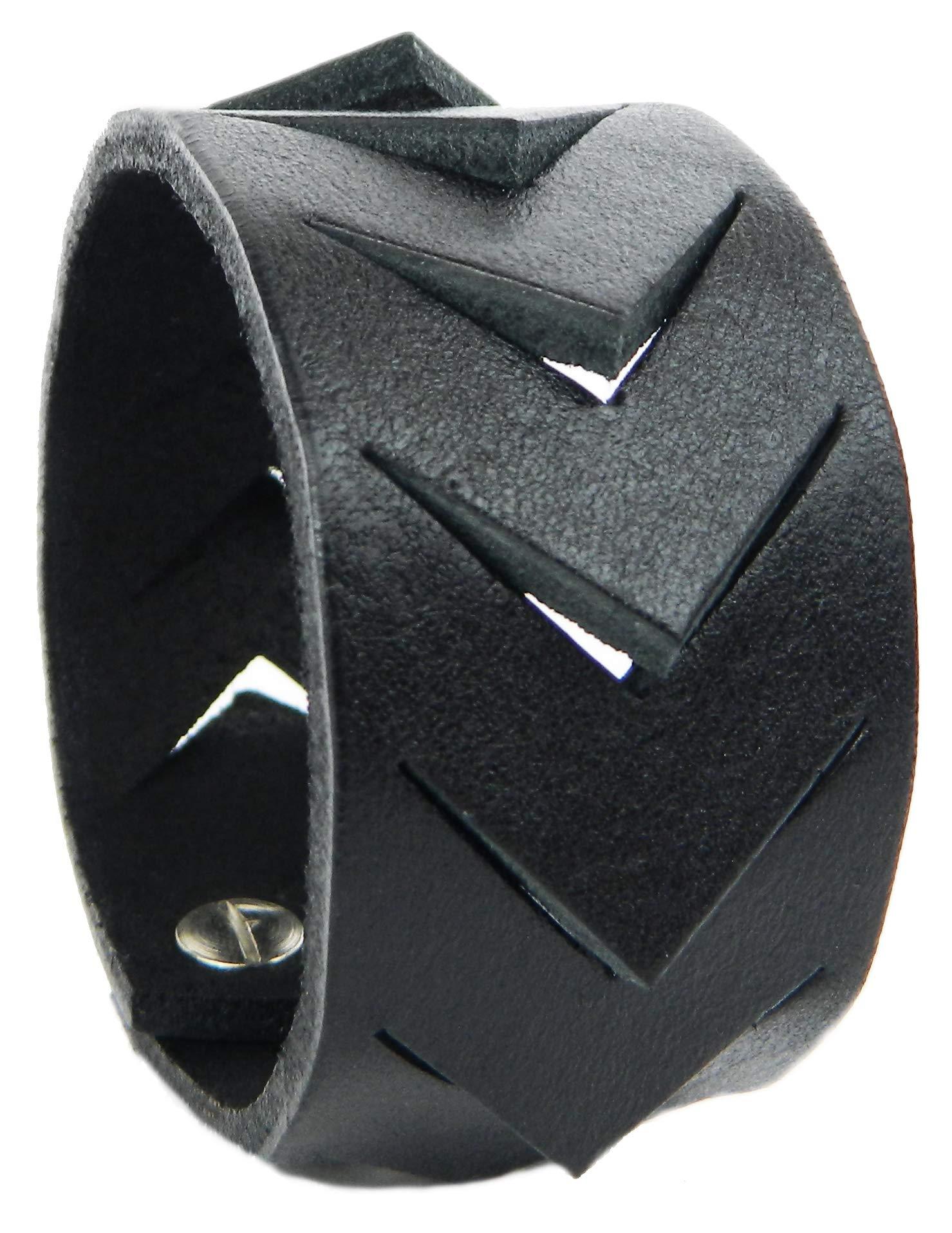 Svetlana Zubko Chiara Genuine Leather Bracelet (Black 6.7'')