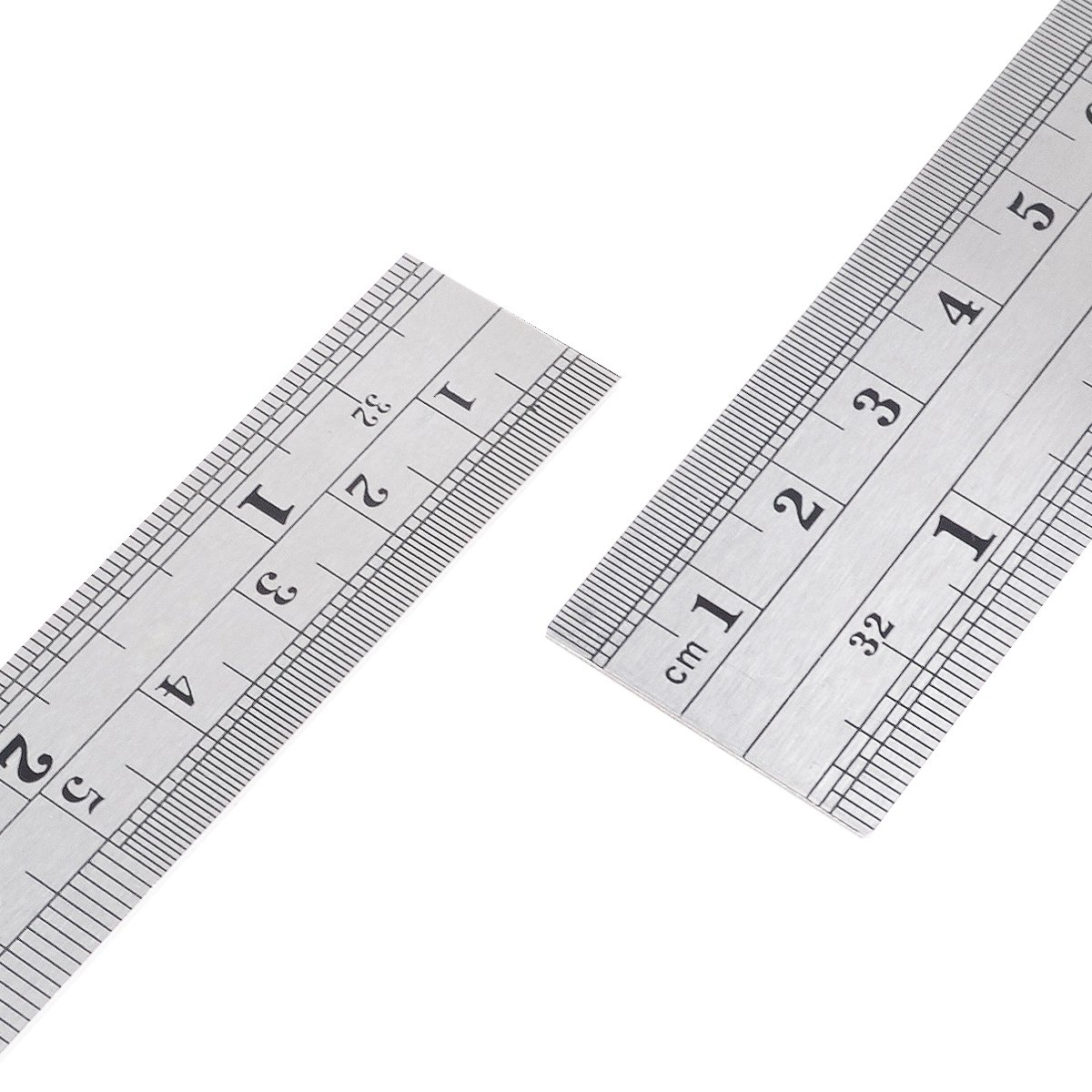 Metal Rule Kit including 12 Inch Ruler and 6 Inch Ruler with Conversion Table and Storage Bag HusDow Stainless Steel Rulers Set
