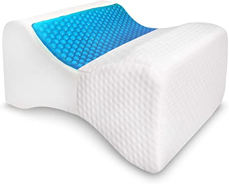Knee Leg Pillow for Side Sleepers Memory Foam Sleep Cushion Back Pain Relief *