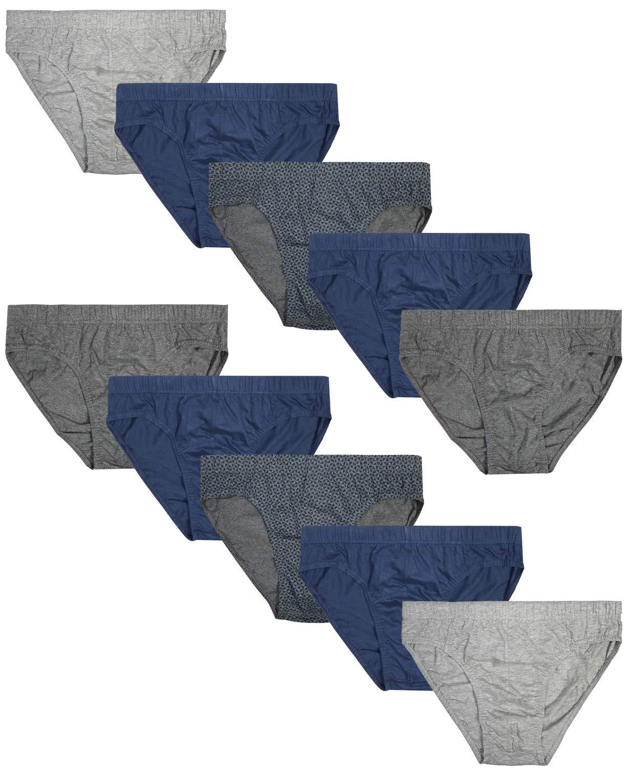 Beverly Hills Polo Club Men's Low Rise Brief Underwear, Solid Triangle, Medium (32-34)'