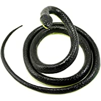 Realistic Rubber Black Mamba Snake Toy 130cm Long