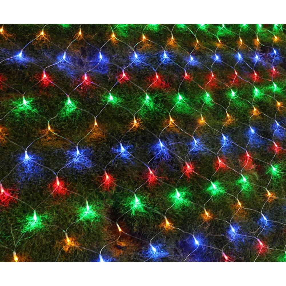 672 LED Net Light 19ft× 13ft Low Voltage Transformer Indoor & Outdoor Fairy Starry Lights Garden Patio Party Valentine's Day Wedding Christmas Tree Outdoor Decoration Bedroom, Colorful J.SPG