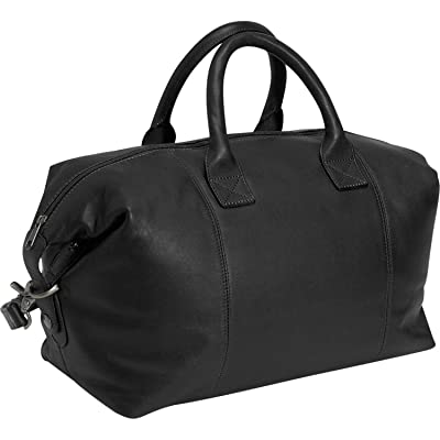 Royce Leather Luxury Overnighter Luggage Handcrafted in Leather Duffel Bag, Black, One Size