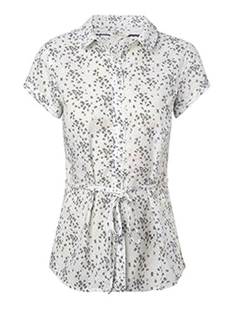 e8c31bf8d8b Ex White Stuff White Summer Printed Blouse Top Tunic Shirt Size 8 10 12 14  16 (UK 8): Amazon.co.uk: Clothing