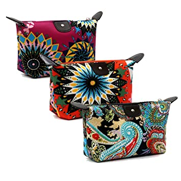 HOYOFO Women s Travel Cosmetic Bags Small Makeup Clutch Pouch Cosmetic and  Toiletries Organizer Bag Pack of 1a8ba07231c98