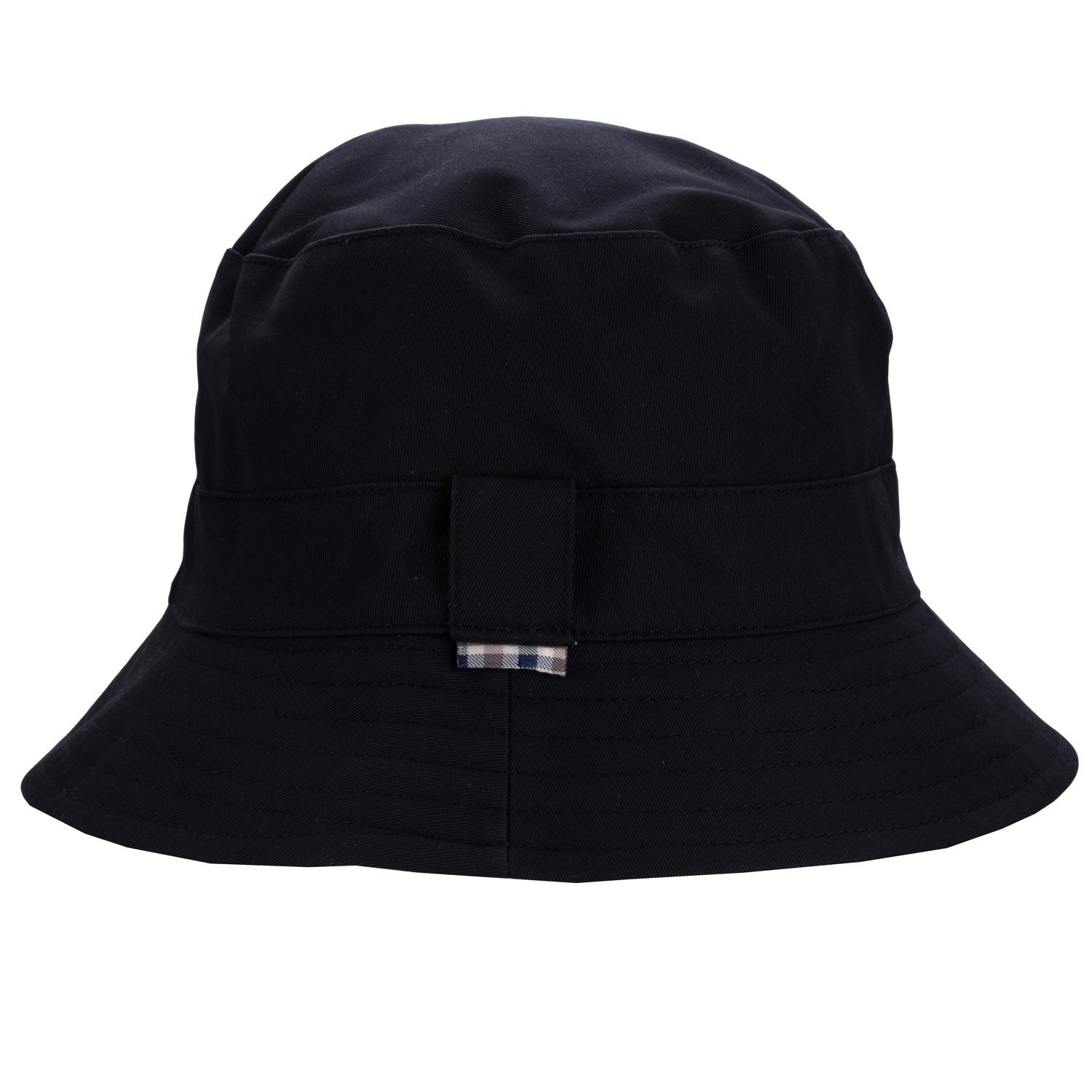 Aquascutum Mens Reversible Bucket Hat in Navy