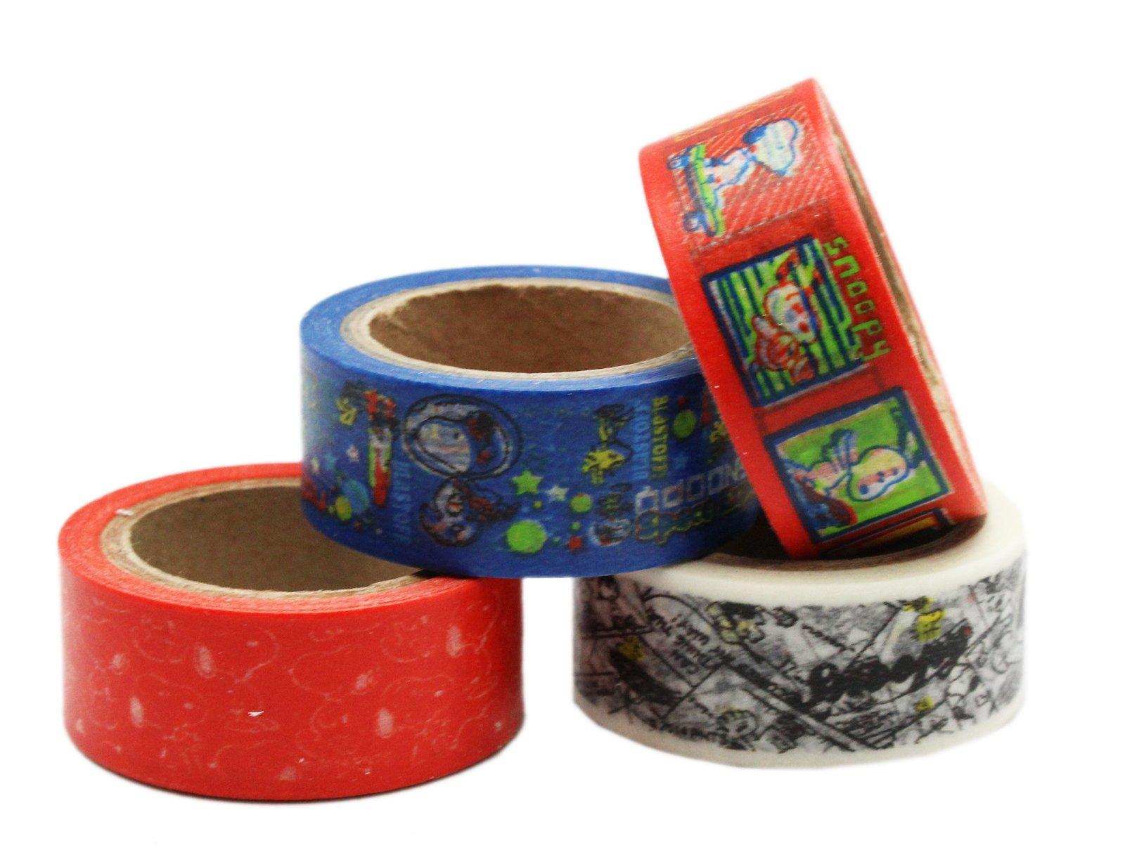 Peanuts Snoopy Variety Decorative Tape (4 rolls)