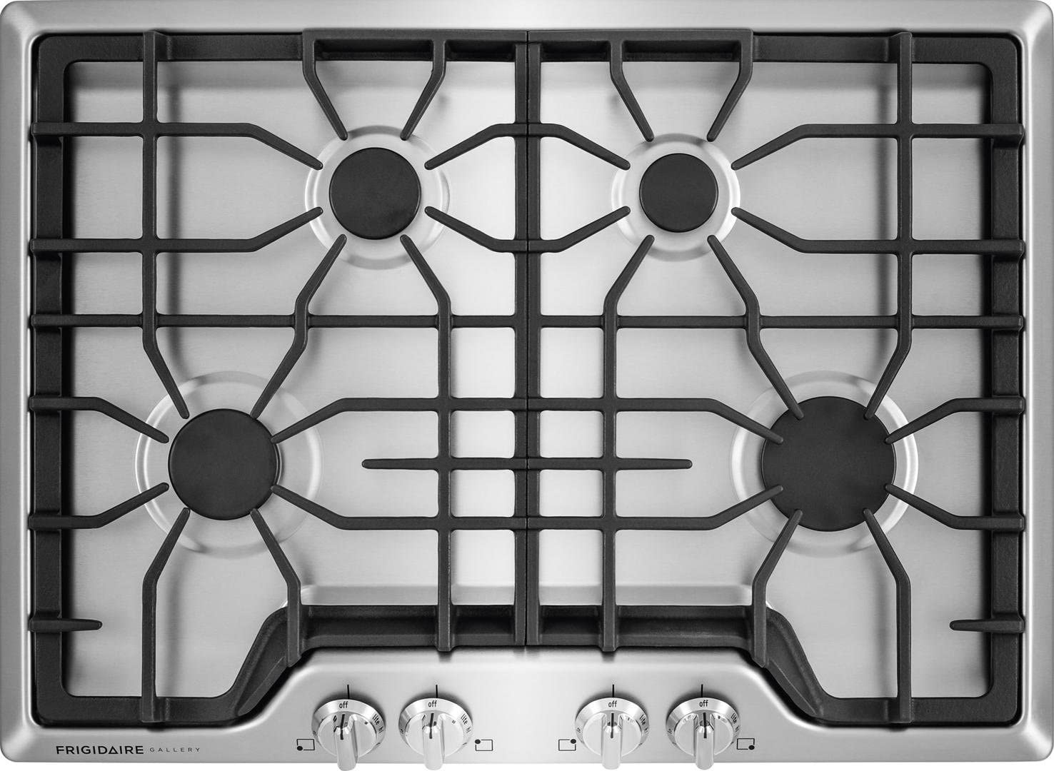"30"" Sealed Burner Style Cooktop with 4 Burners in Stainless Steel 71DpS70uiMLSL1476_"