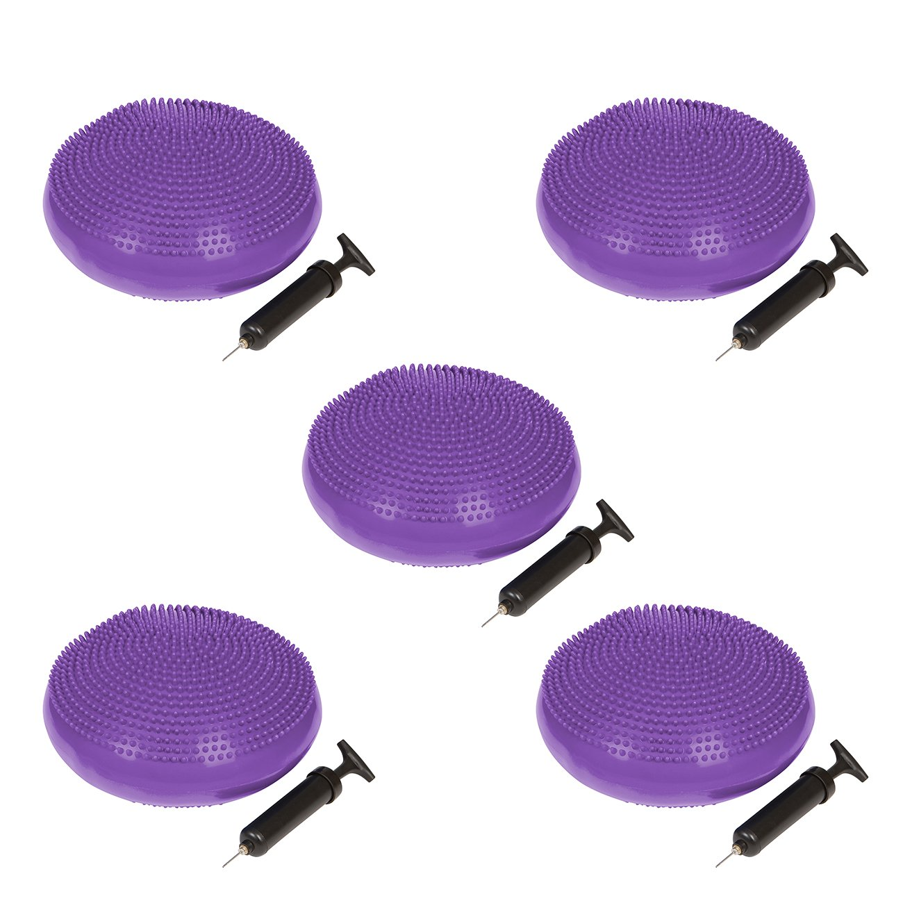Trademark Innovations PVC Fitness and Balance Disc - 13-Inch Diameter - Set of 5 - (Purple)