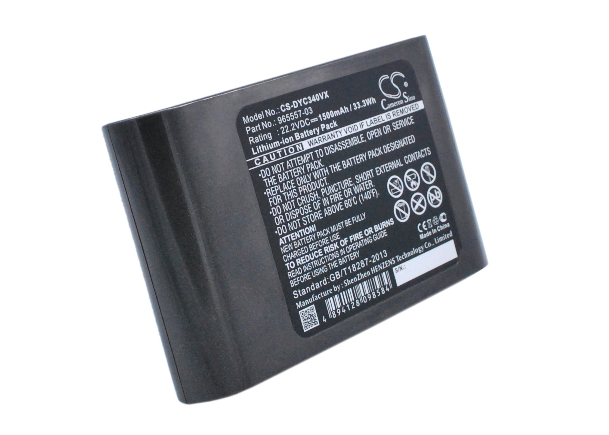22.20V Li-ion replacment Battery for Dyson 202932-02,202932-05,fit Model Dyson DC31 Animal,DC34,DC34 Animal,1500mAh / 33.30Wh