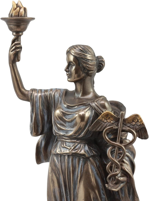 Griega Diosa romana de salud Hygieia Estatua Figura Hygea hija si de Esculapio epione m/édico m/édico de regalo por YTC