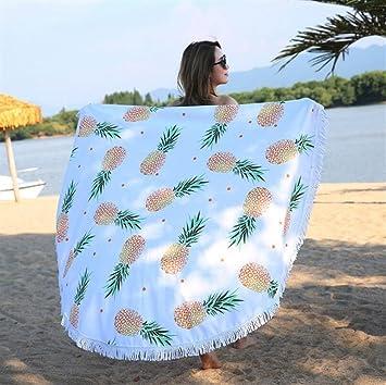 ZHJZ: 1 Toalla de Playa con Estampado de piña Tropical, Suave, Manta de Toalla de Playa: Amazon.es: Jardín