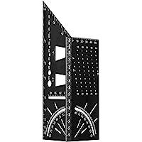 Orthland Mitre 3D-verstekhoek, aluminiumlegering, aanslaghoek, duimstok, houtbewerking vierkant, maat maatregel 90…