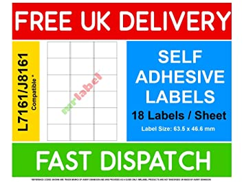 avery compatible labels l7161 j8161 18 labels per page 1000 sheets