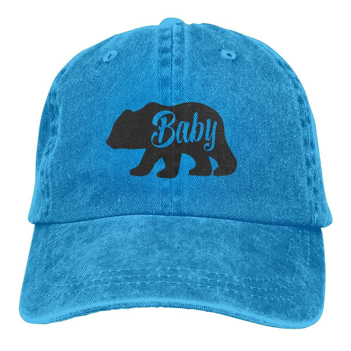 SELFD Baby Bear Cowboy Cotton Ball Hat Campaign Cap Comfortable and Breathable Natural