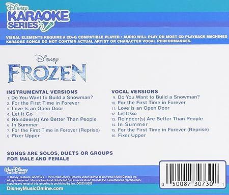 Disney Karaoke Series Frozen Amazon Com Music Lyrics of you will be found. frozen