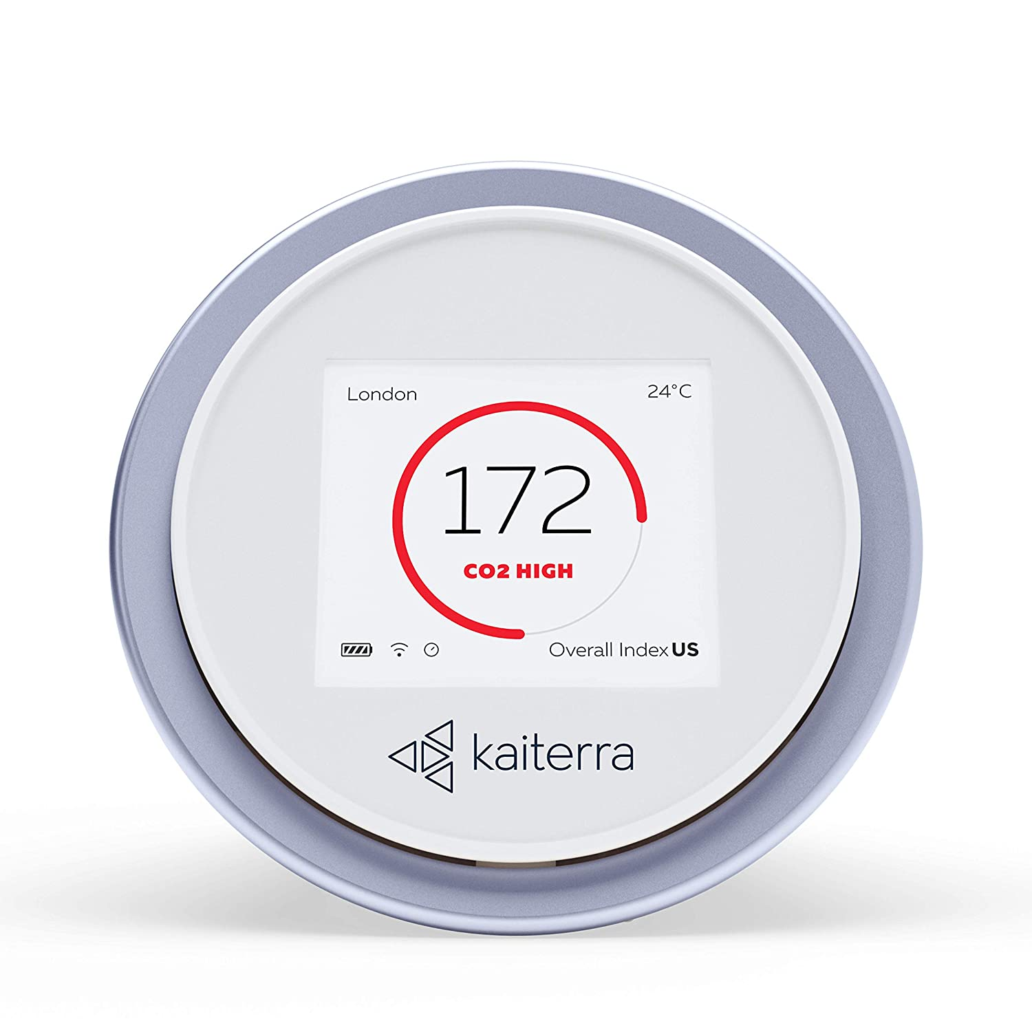 Image of Indoor Air Quality Meters Kaiterra Laser Egg+ CO2: Indoor Air Quality Monitor (Tracks PM2.5, Fine Dust, CO2, Temperature, and Humidity)