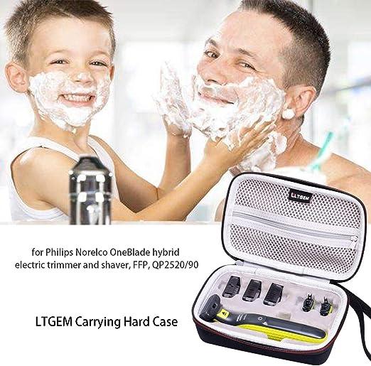 LTGEM EVA Estuche rígido para la trituradora y afeitadora eléctrica Norelco OneBlade Hybrid de Philips: Amazon.es: Salud y cuidado personal