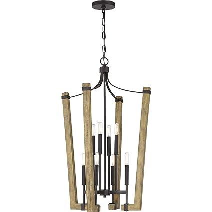 Amazon.com: Quoizel PLN5208WT - Lámpara de araña, 8 focos ...