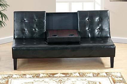 Amazon.com: Poundex PDEX-F7209 Adjustable Sofa w/Center ...