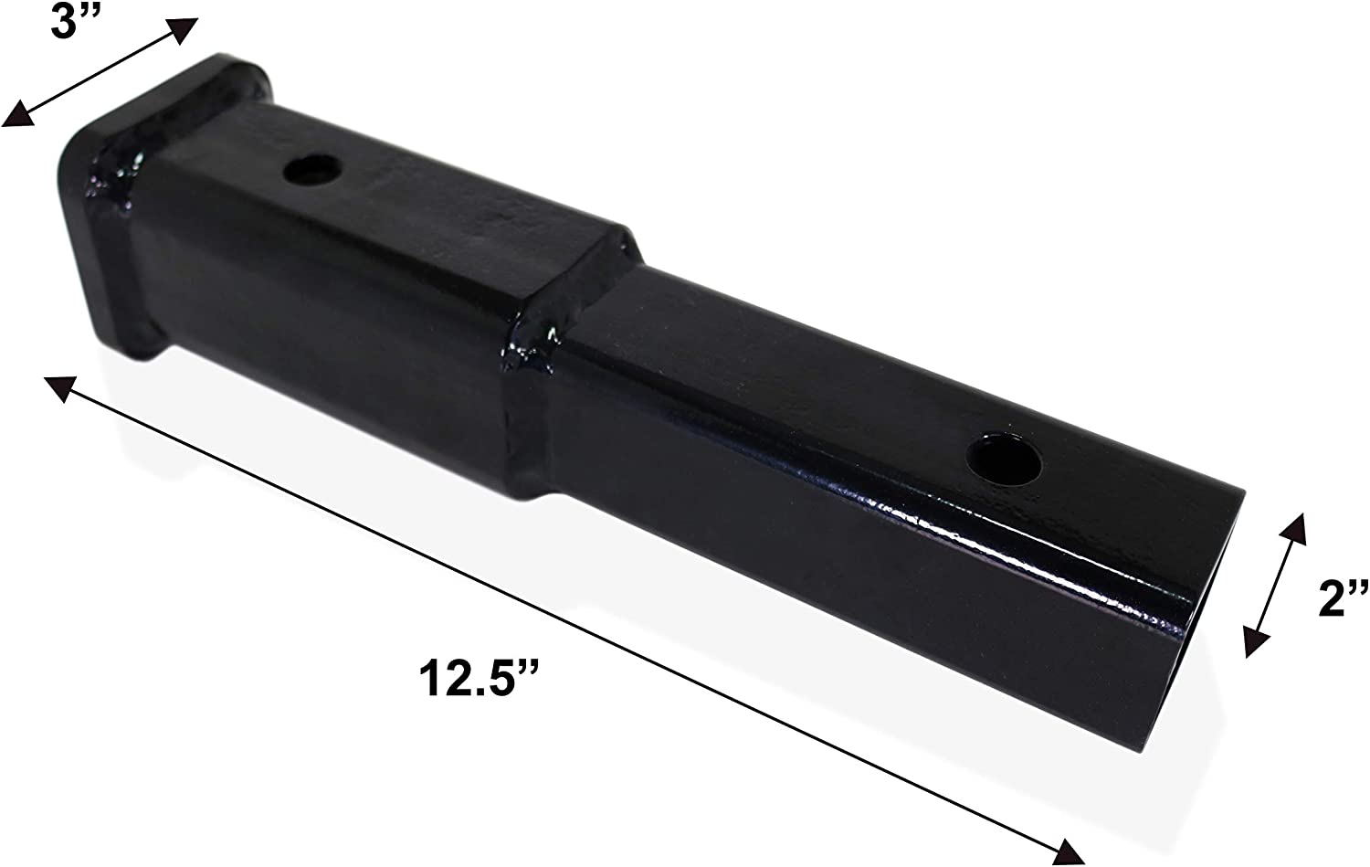 8 Inches Long for 2 Inch Tow Hitch Receiver with 5//8 Inch Hitch Pin and Ball Hitch Cover GarMills Hitch Extension