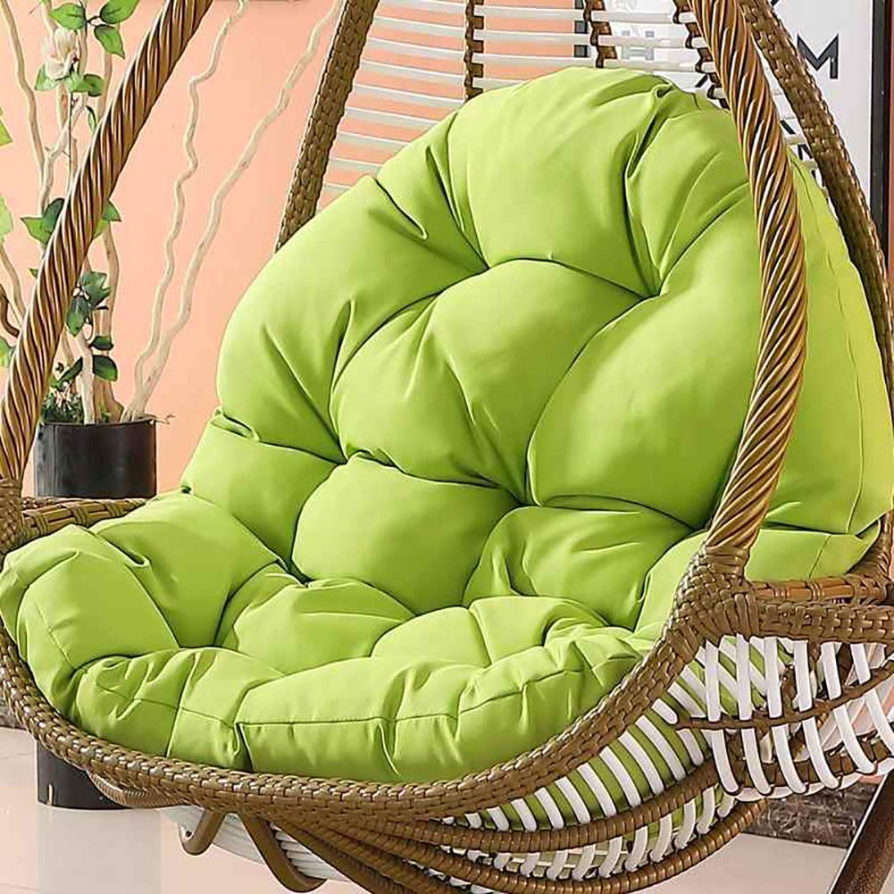 DULPLAY Hanging Chair Seat,Non-Slip Chair Pads,Swing Basket Cradle Wicker Chair Adult Rocking Chair Cushion Indoor Balcony Pad Soft-A 120x86x15cm(47x34x6inch)