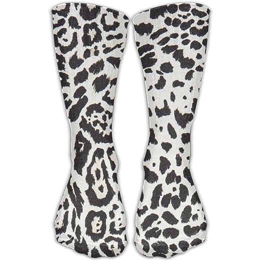 91dd9ff90fa Shi Fu Unisex Design Leopard-print Knee High Long Stockings Adults  Personalized Socks Sport Crew