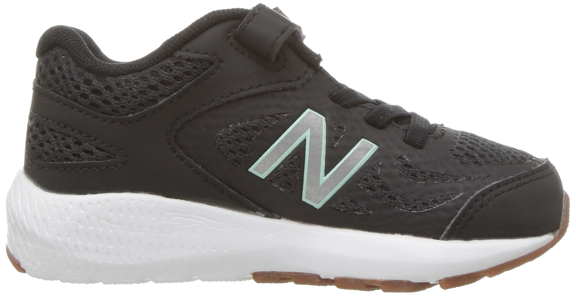 New Balance Girls' 519v1 Hook and Loop Running Shoe Black/Seafoam 2 M US Infant by New Balance (Image #7)