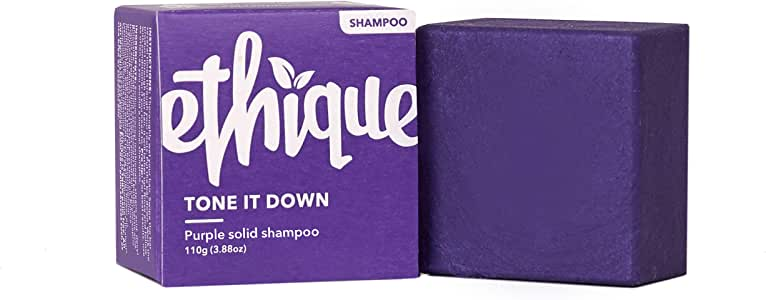 Ethique Eco-Friendly Purple Shampoo Bar for Blonde & Silver Hair, Tone It Down - Sustainable Natural Solid Shampoo, pH Balanced, Sulfate Free, Vegan, Plant Based, 100% Compostable & Zero Waste, 3.88oz