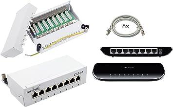 24port Cat6 Network Building A 8 Port Rj45 Patch Panel Patch Panel Patch Panel Ftp 8 X 10 G Tp Link Sg1008d 8 Port Gigabit Desktop Switch Baumarkt