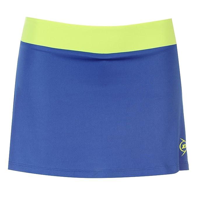 Dunlop Performance Mujer Skort Fácil Tenis Rock Pantalón Interior Ropa Deportiva, Mujer, Color Azul