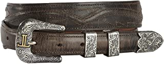 product image for Lucchese Men's Burnished Goat Seville Stitch Leather Belt - W2252s