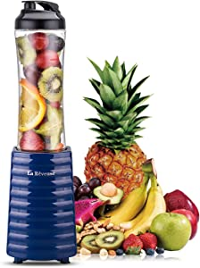 Smoothies Blender Personal Size 300 Watts with 18 oz BPA Free Portable Travel Sports Bottle (Navy)