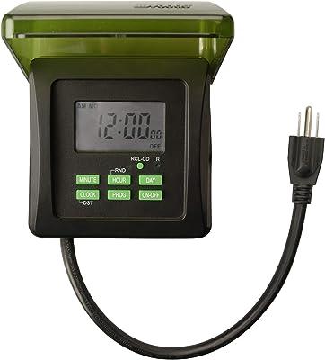 Woods Outdoor 7-Day Heavy Duty Digital Plug-In Timer