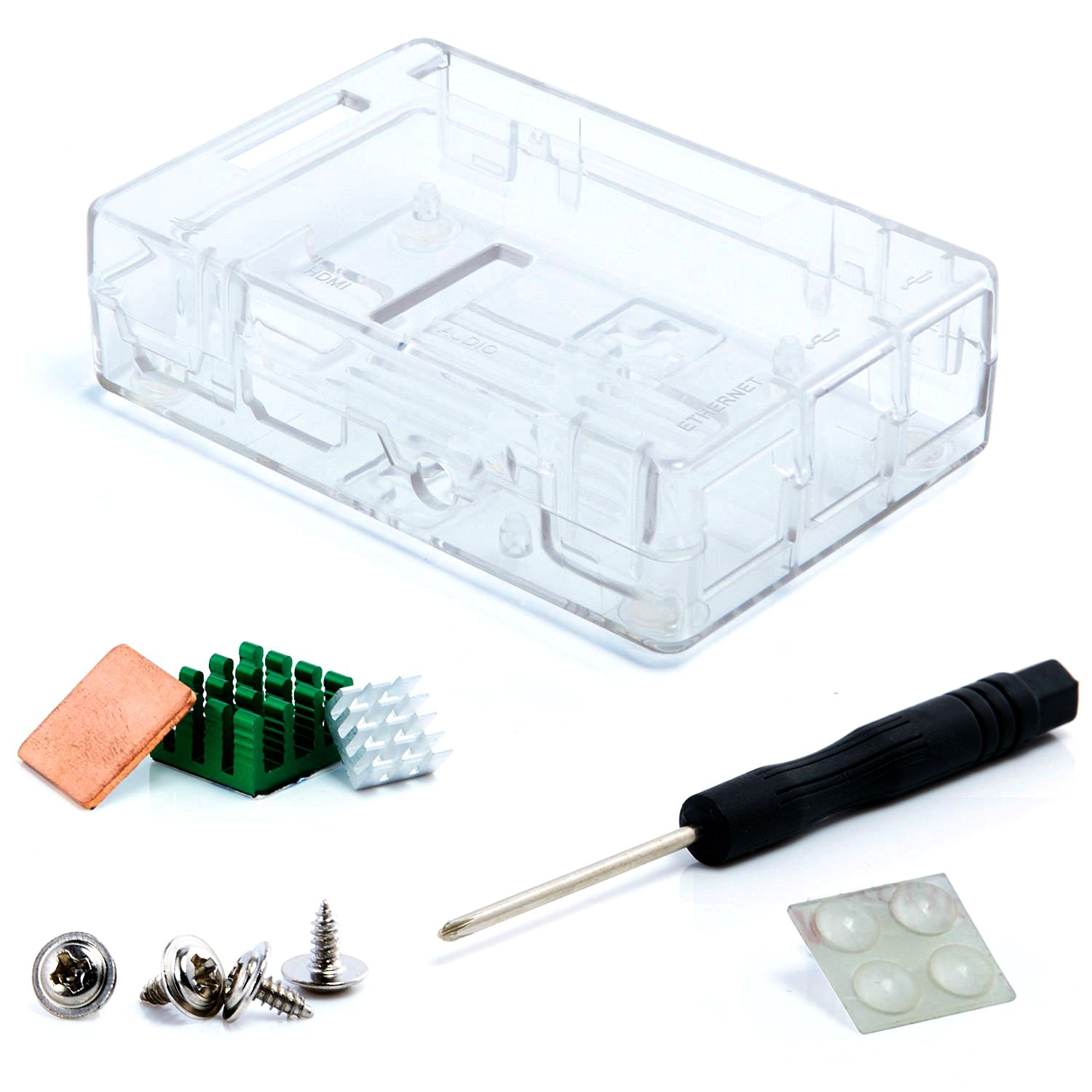 Aukru Transparente Caja para Raspberry Pi 3 Model B y Pi 2 Model B/B+