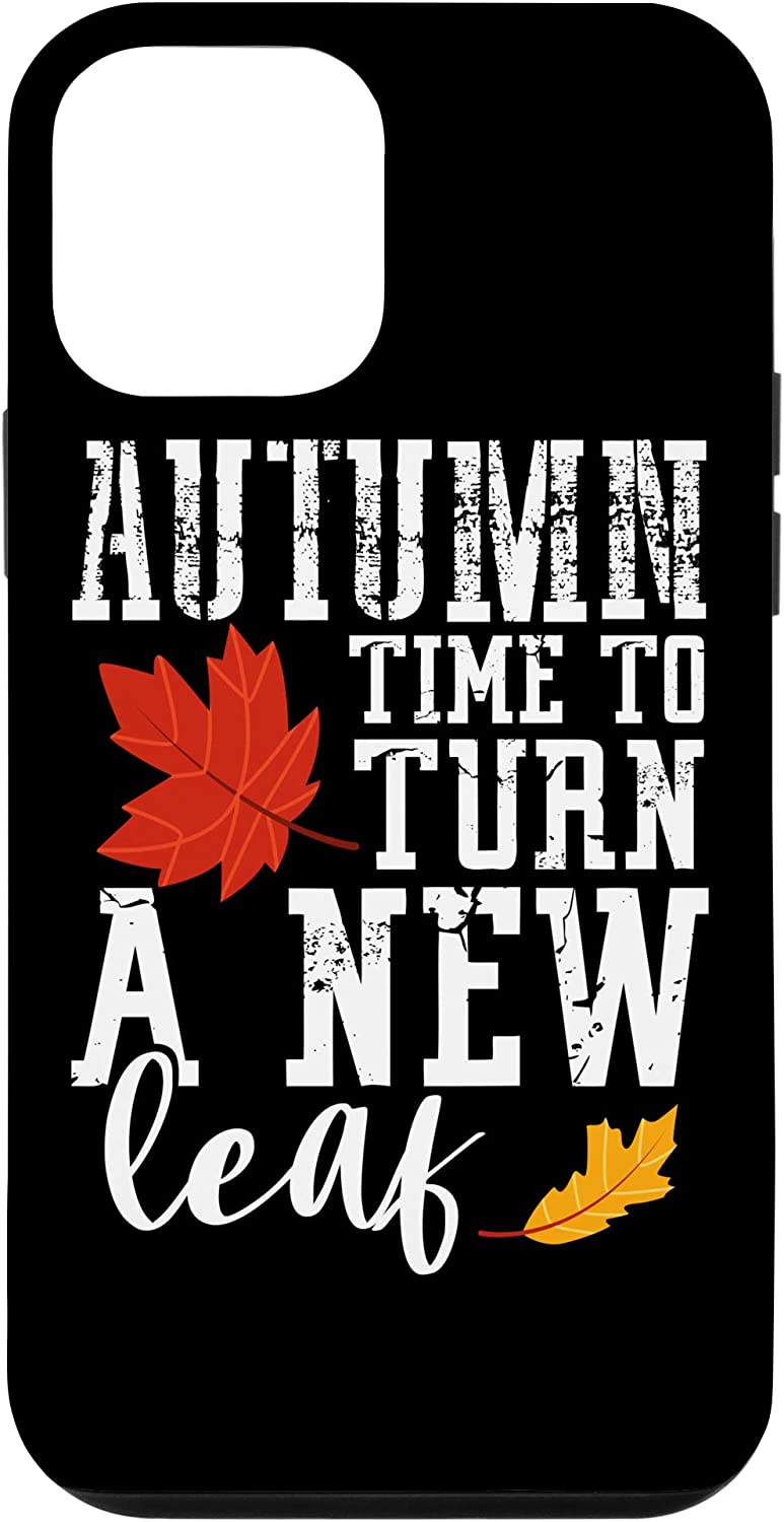 iPhone 12 mini Autumn, Time To Turn Over A New Leaf, Fall Gift Case