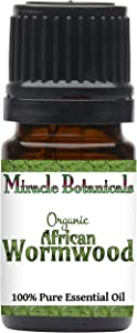 Miracle Botanicals Organic African Wormwood Essential Oil - 100% Pure Artemisia Afra - Therapeutic Grade (5ML)