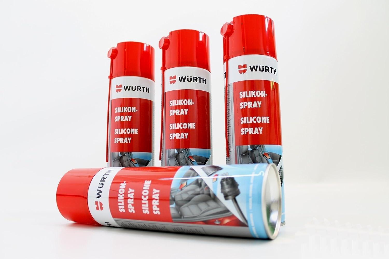 Würth - Espray de silicona (4 unidades, 500 ml)