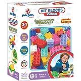 Brinquedo Para Montar Kit Blocos 24 pcs