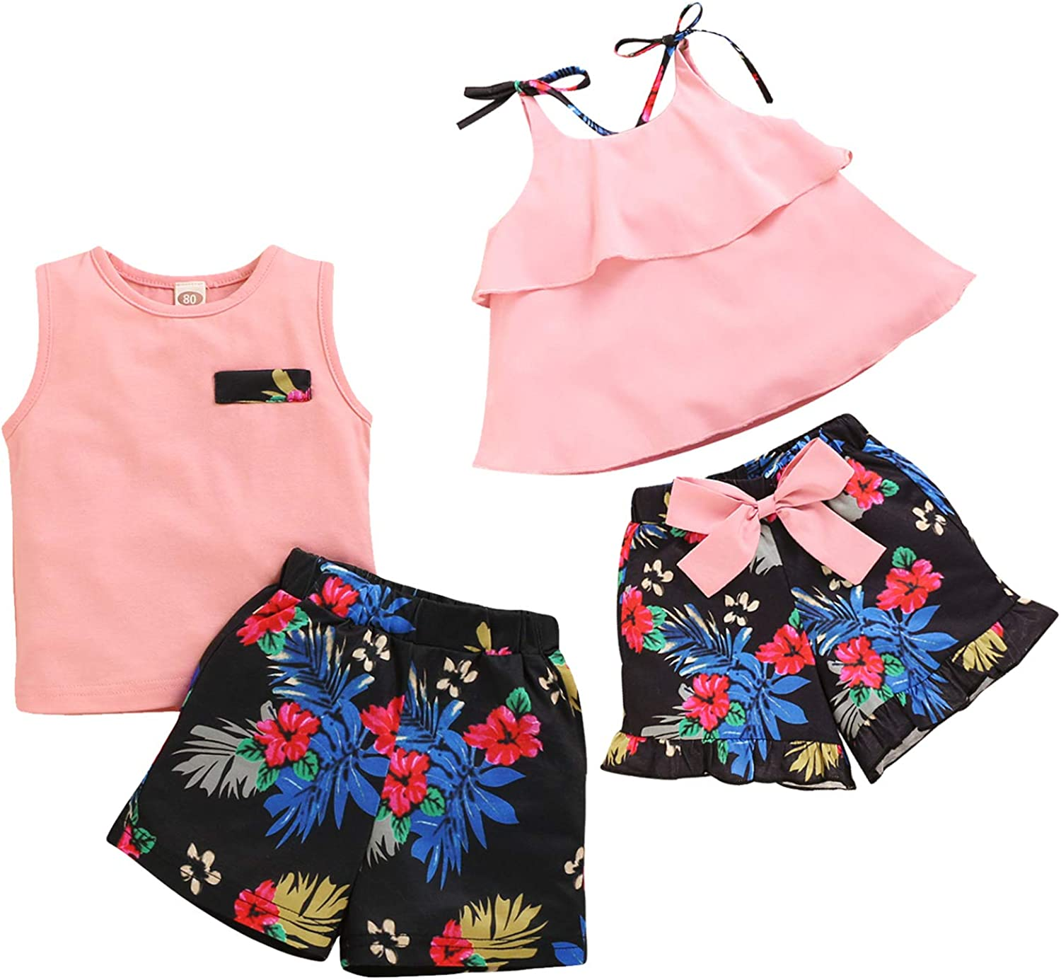 Short Pant 2pcs Cute Outfits Baby Summer Toddler Girls Clothes Short Sleeve Vest