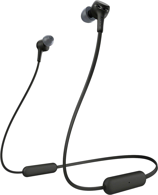 Sony WIXB400 - Auriculares inalámbricos de botón (Bluetooth, Extra Bass, 15h de batería, Tapones magnéticos para Transporte fácil, Llamadas Manos Libres, óptimo para Trabajar en casa), Negro