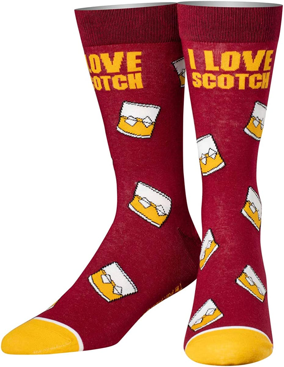Cool Socks Men's Knit Crew Socks, Back to the Future Marty McFly Doc Brown Stripes