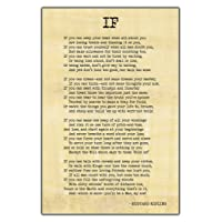 """Alter Ego """"If"""" By Rudyard Kipling, Famous Inspirational Poem Wall Poster - (Recycled, 18.5X12.5-Inches, Multicolour)"""