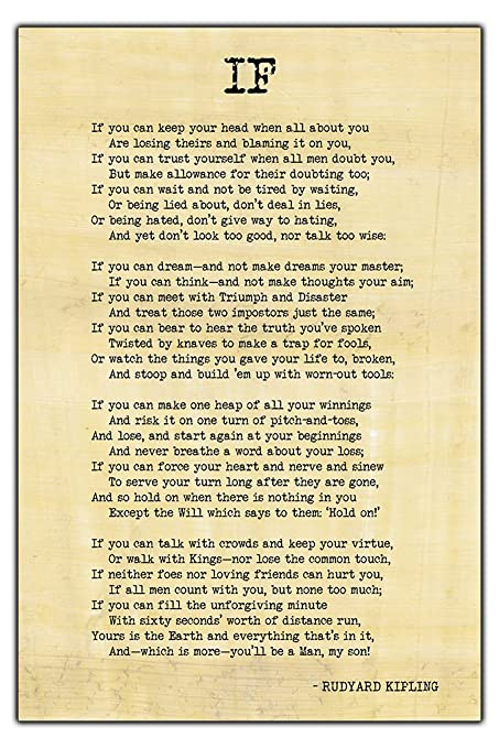 Image result for if by rudyard kipling
