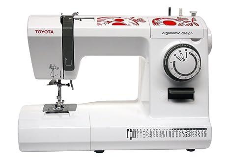 Toyota ECO26C - Máquina de coser, 65 W, 26 programas, color blanco/