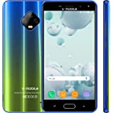 4G 携帯電話・スマートフォン本体 V·Mobile J7 32GB ROM 3GB RAM スマホ 5.5 インチ HD 画面 16:9 Android 7 SIMフリー スマホ 本体 電池5800mAh クアッドコア 1.3GHz デュアルカメラ 8MP 5MP 顔認証 SIMフリー携帯本体 GPS WIFI (グラデーションブルーゴールド)