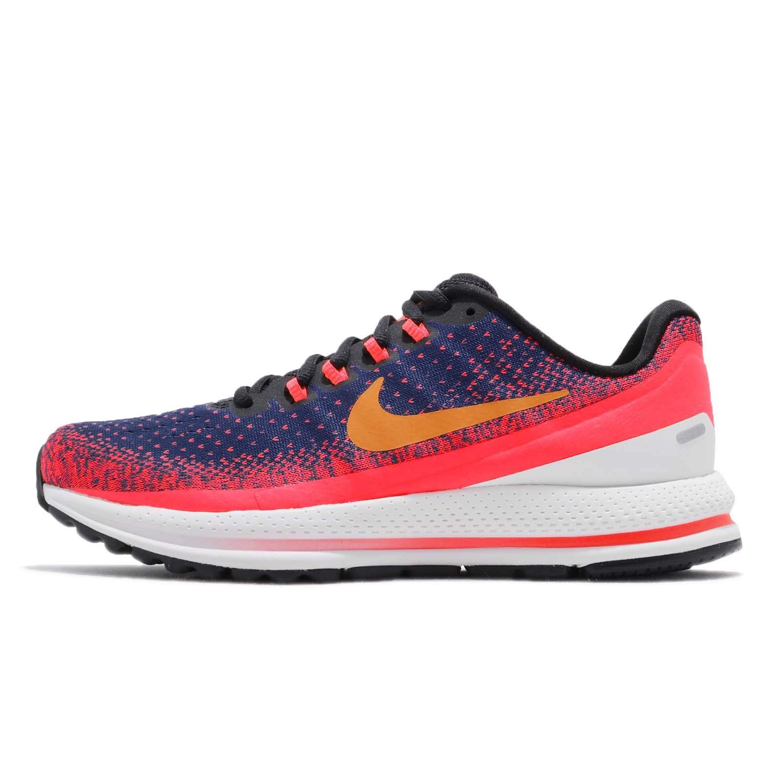 Nike Women's Air Zoom Vomero 13 Running Shoe Blue Void/Orange Peel-Flash Crimson 6.0