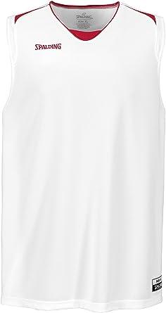 Spalding Attack Tank Top Camiseta De Equipaciones Manga Corta Verde//Blanco Hombre M