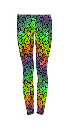 3cdaaf87dd Bright Rainbow Petals Women's Ultra Soft Popular Printed Fashion Leggings  Tight Pants ...