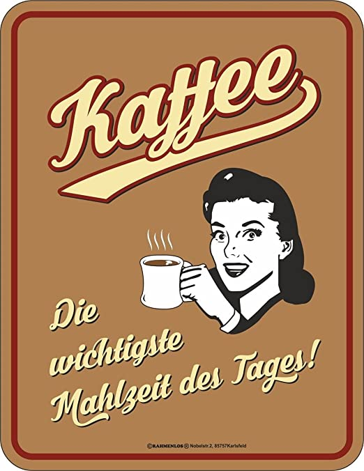 Original sin marco, Cartel de chapa Café - La comida más ...